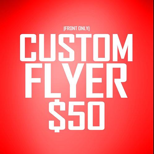 Custom 1-Sided Flyer Design (24 hr delivery)