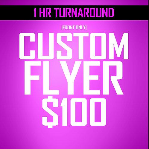 Special **1 hr Turnaround *** Flyer 1-Sided Design