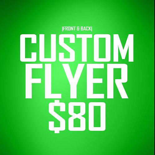 Custom 2-Sided Flyer Design (24 hr delivery)