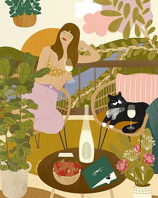 Afternoon Prosecco by Aleksandra Birch
