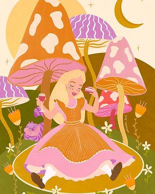 Alice in Mushroomland by Aleksandra Birc