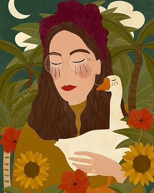 Lady With A Goose Aleksandra Birch Asia