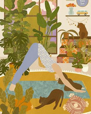 It's Yoga Time by Aleksandra Birch