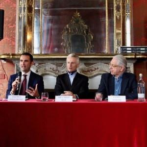 Conferenza stampa della nuova partnership di Domori con Guido Harari