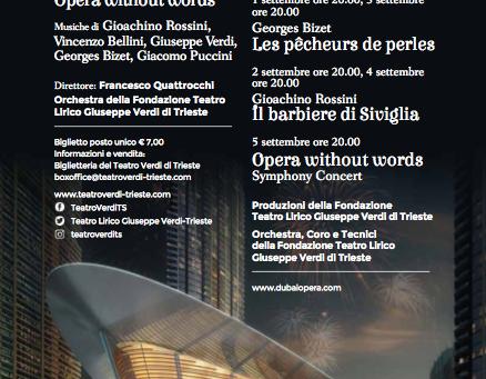 Il Teatro Verdi di Trieste inaugura la Dubai Opera
