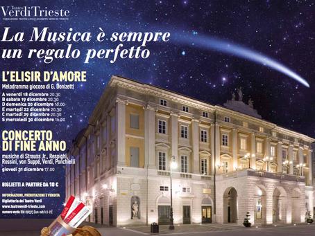 L'Elisir d'amore e concerto di fine anno - Gran finale al Teatro Verdi di Trieste
