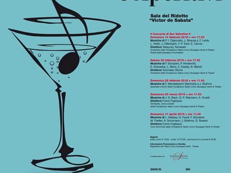 """Concerti e aperitivi al """"Victor de Sabata"""", Ridotto del Teatro Verdi"""