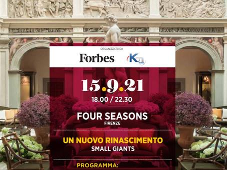 ForbesLive: un nuovo Rinascimento, Small Giants - 15 settembre