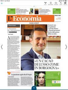 Il Corriere, Economia Nord Ovest: Andrea Macchione, CEO Domori.