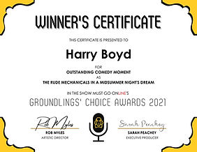 Groundlings' Choice Award - Most Outstan