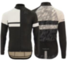 Winter Cycling Jacket, Black & White Pattern