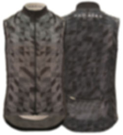 Cycling Gilet, Black & White Pattern