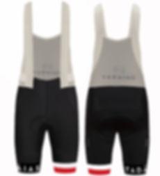 Cycling Bib-Shorts, Red & White Stripes