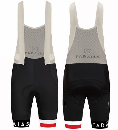 Cycling Bib-Shorts, Red & White Stripes