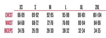Tadaias Women's sizing chart