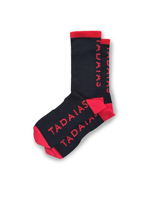 Black Vertical Socks
