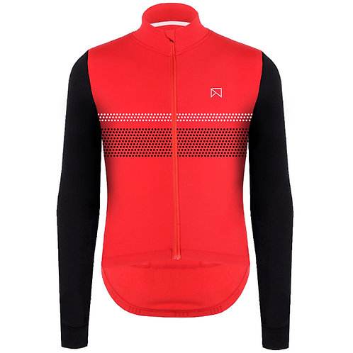 Dot Long Sleeve Jersey - Red