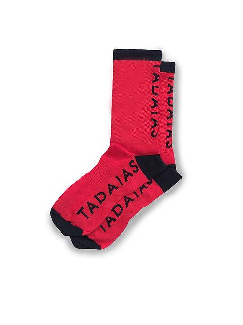 Red Vertical Socks