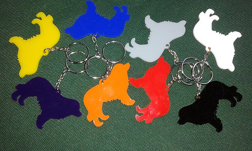 Coloured Leonberger Key Rings
