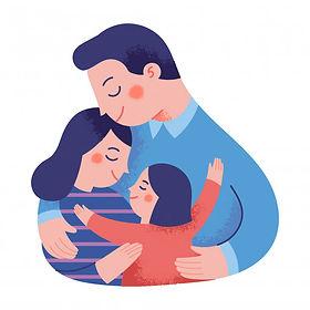 concept-illustration-happy-family-huggin