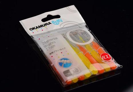 Зубной ершик Okamura прямой в упаковке