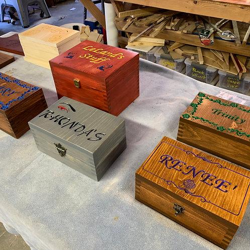 Wood Carving - Custom Made Medium Size Wood Box
