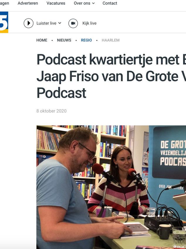 Podcast kwartiertje met Bas Maliepaard en Jaap Friso van De Grote Vriendelijke Podcast