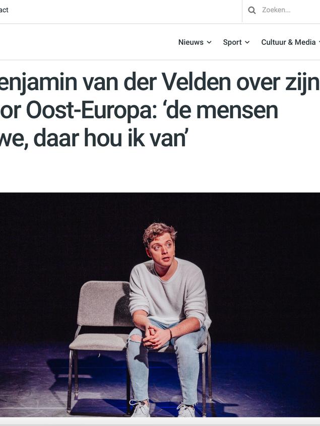 Interview Cabaratier Benjamin van der Velden voor radio Haarlem105