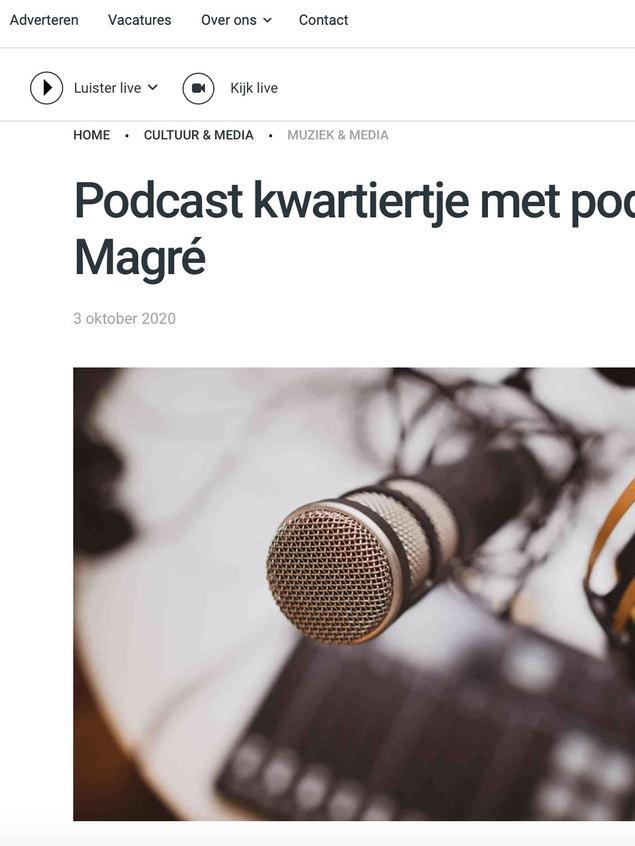 Podcastkwartiertje voor Haarlem105