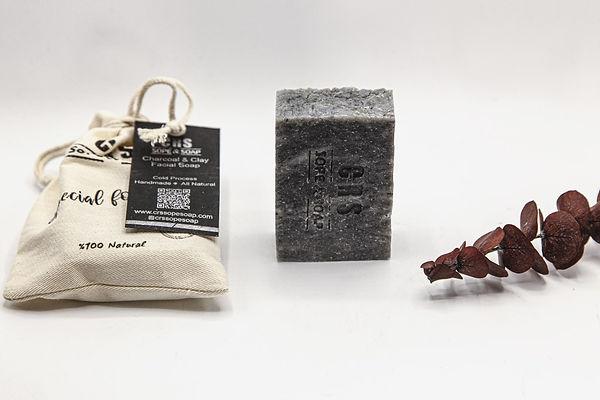 doğal kömür ve kil sabunu