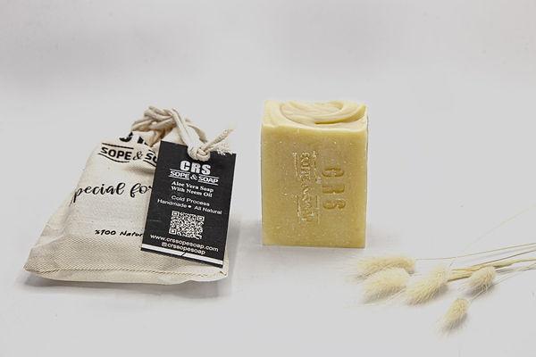 Doğal aloe vera sabunu neem yağı