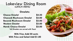 Lunch Menu Omelets
