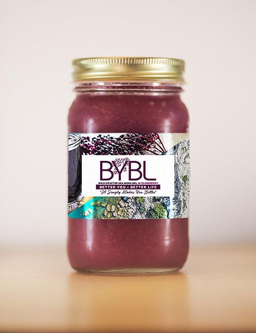 Wild Crafted Sea Moss Gel With Elderberry (16 oz. Jar)