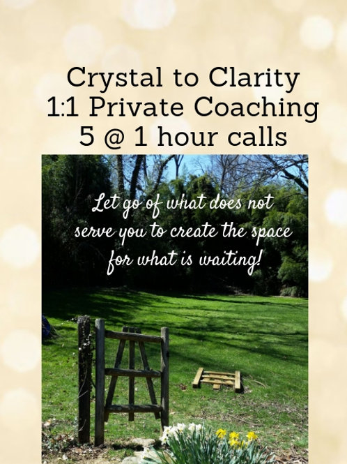 Clarity and Vision    1 : 1 Private Coaching - 5 hours
