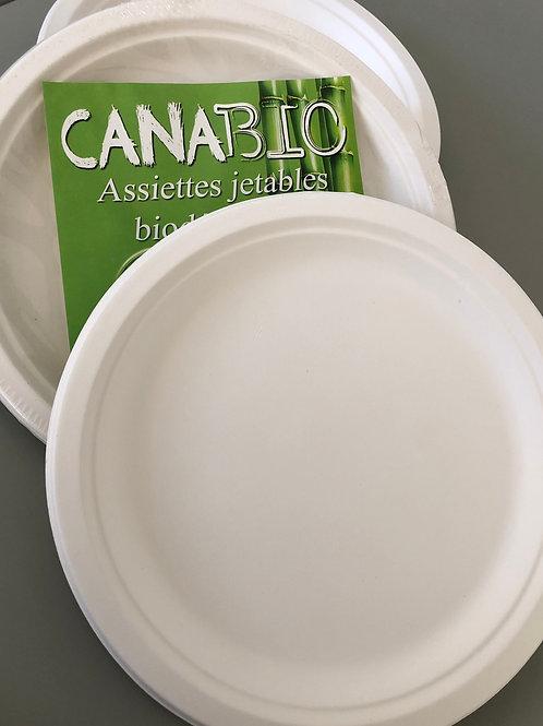 Assiettes Canabio x900 (155mm) Biodégradables & Compostables