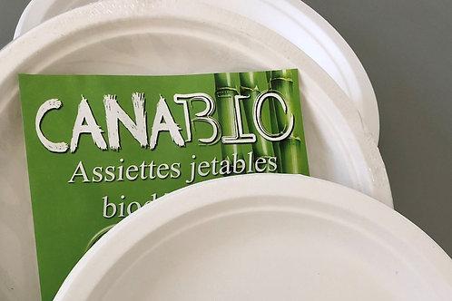 Lot de 2 x 20 Assiettes Canabio (155mm)
