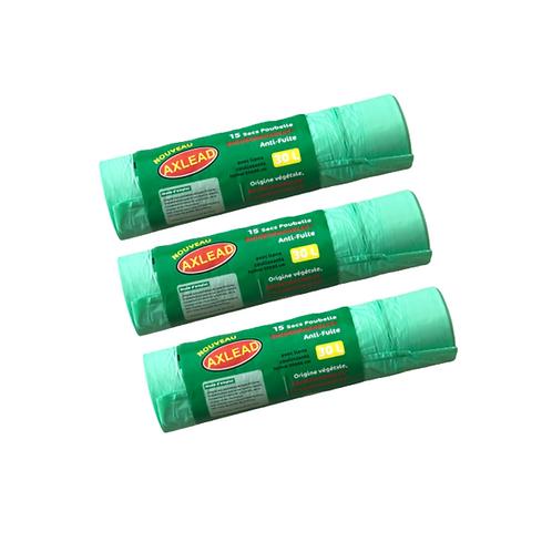 Sacs poubelle biodégradables compostables 30L