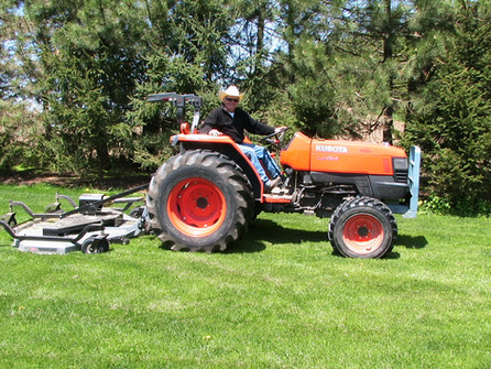 Risty and his Kubota