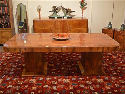Superb Walnut Hille Epstein Art Deco Dining Table Chairs Sideboard C