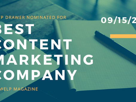 Deep Drawer nominated as a top Content Marketing company by Welp Magazine