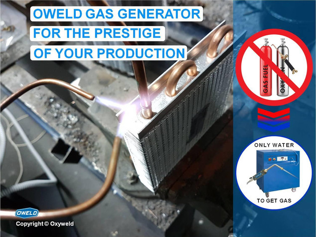 Gas generator for clean and economic brazing and welding