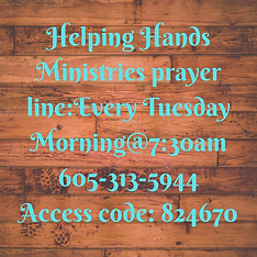 Helping Hands Ministries prayer line_Eve