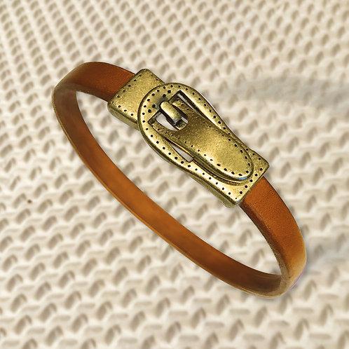 CEINTURON fermoir aimanté métal couleur bronze, 2 couleurs au choix