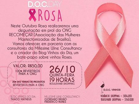 DOC Vinhos promove evento beneficente em apoio ao Outubro Rosa