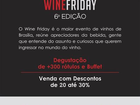 Wine Friday - Últimos dia para comprar ingressos promocionais