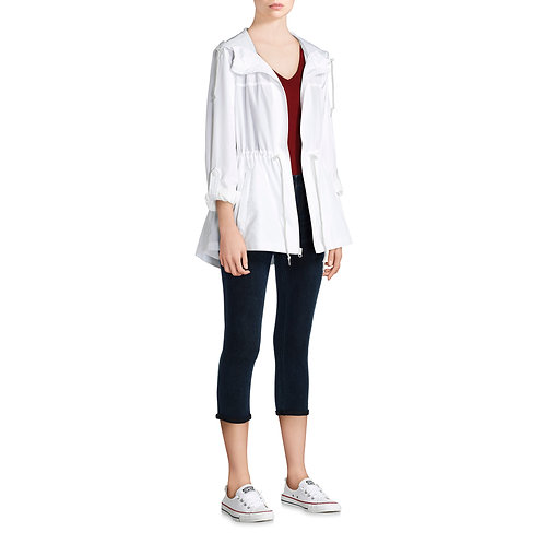 Women's Hooded Packable Anorak--Zips Up Into A Small Pouch