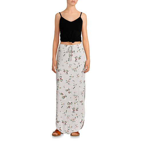 Women's Maxi Skirt with Rounded Hem