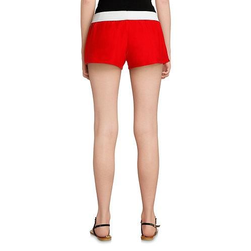 Juniors' Classic Roll Waist Shorts