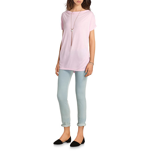 Women's Classic Cowlfront Career Top With Flattering Side Ruching
