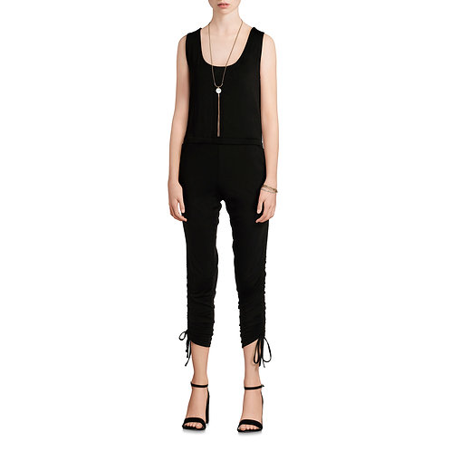 Women's Sleeveless Cinched Leg Jumpsuit